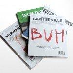 Die bisherigen vier Hefte 'Das Buch als Magazin'