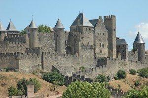 Mittelalter-Burg-Carcasonne-Neu