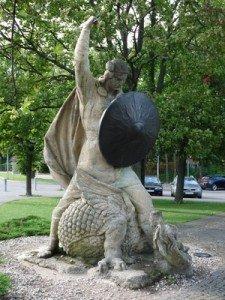 Mittelalter-Nibelungensage-Siegfried-Drachen